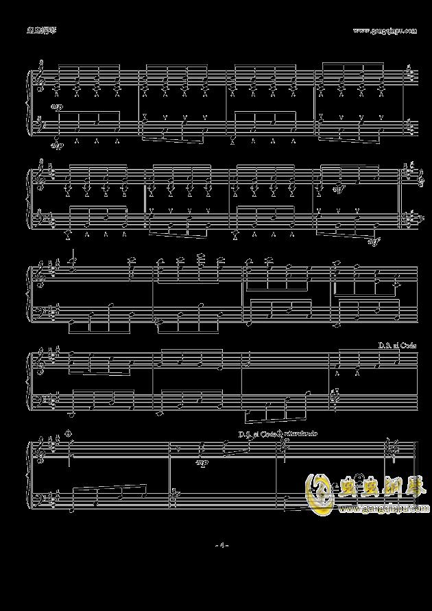 Piano Solo钢琴谱 第4页