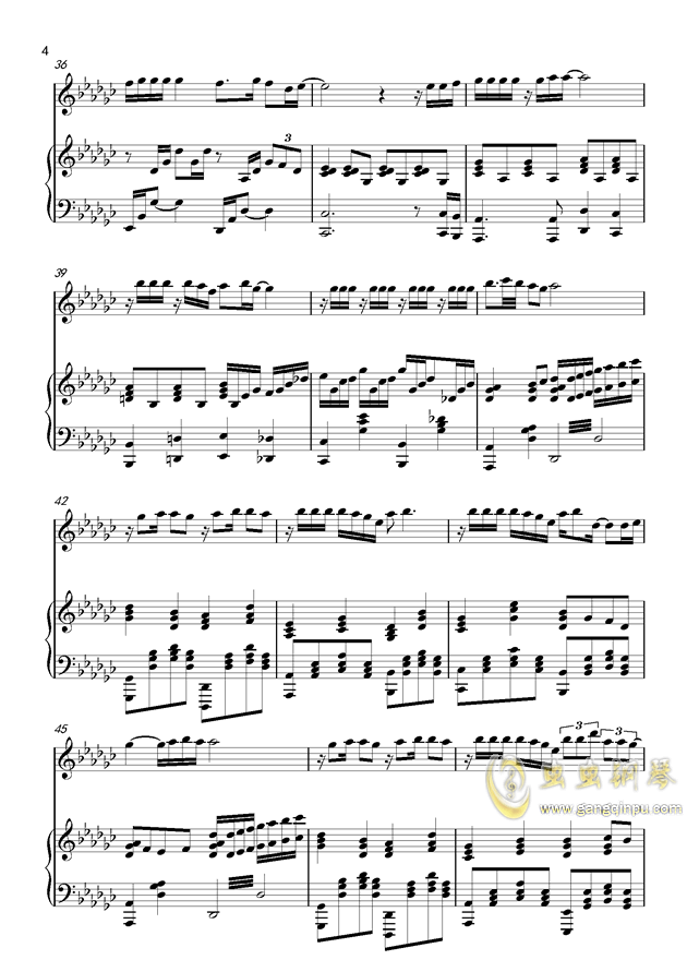 炫耀钢琴谱 第4页