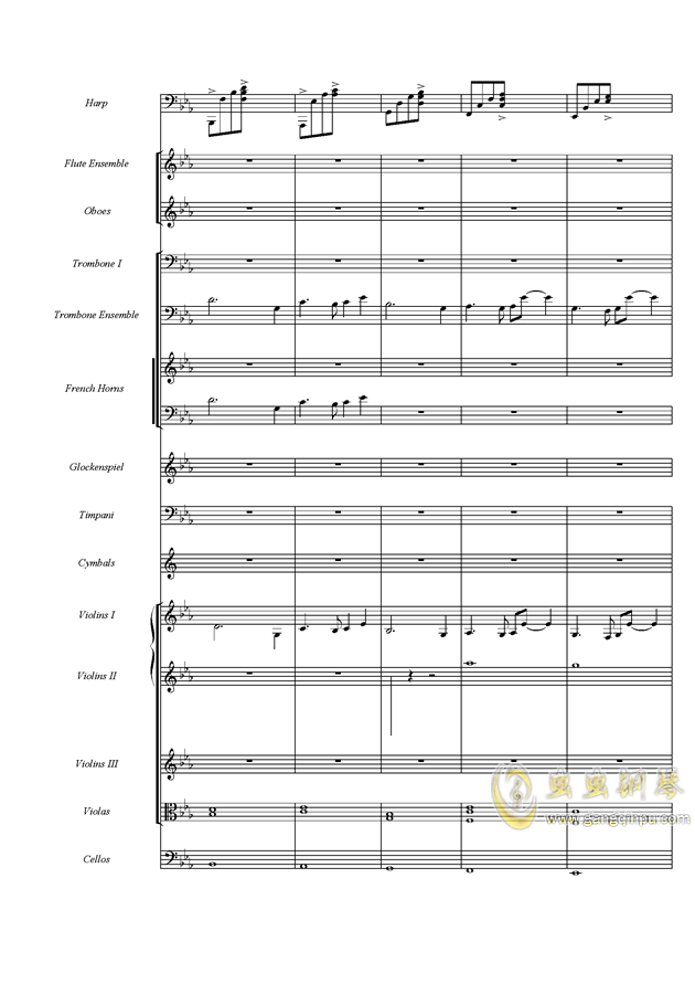 天空之城钢琴谱 第9页