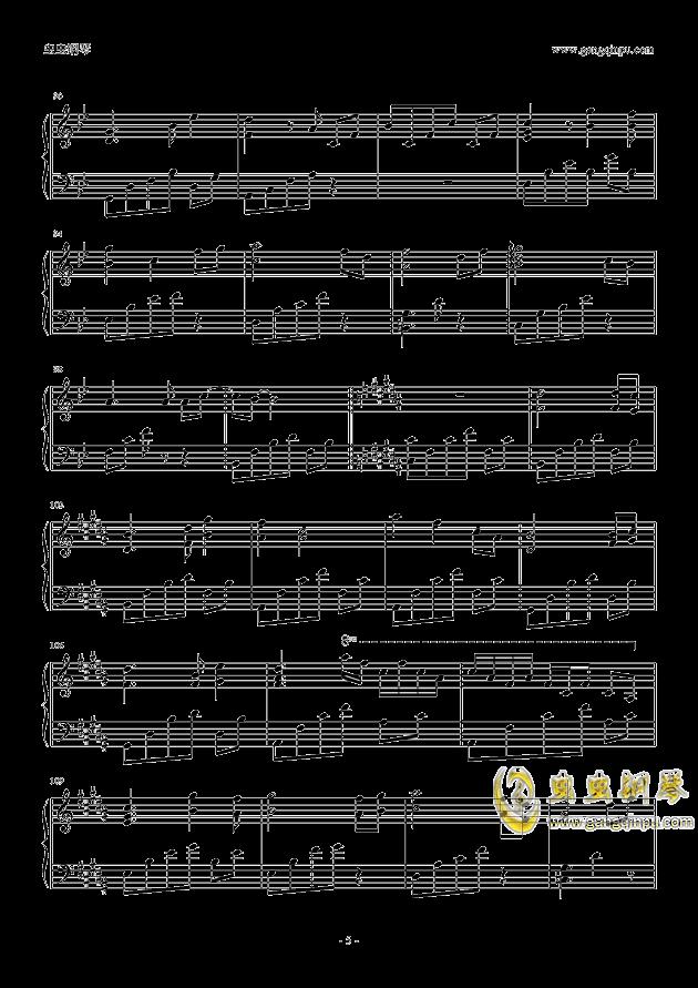 后会无期钢琴谱 第5页