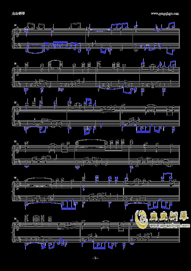 万神殿BGM钢琴谱 第2页
