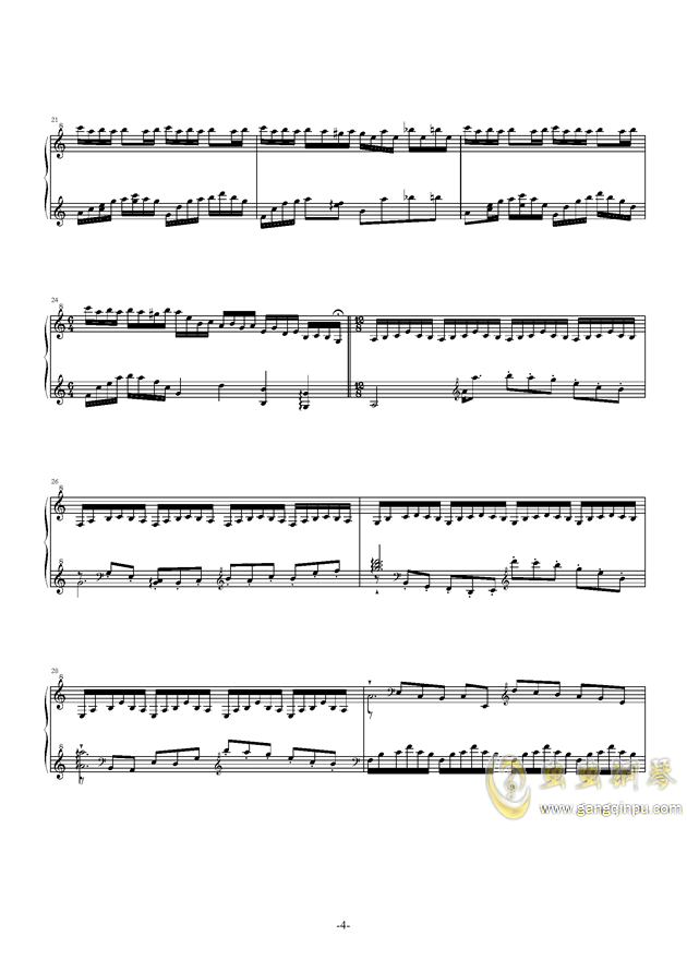 遗忘天堂钢琴谱 第6页