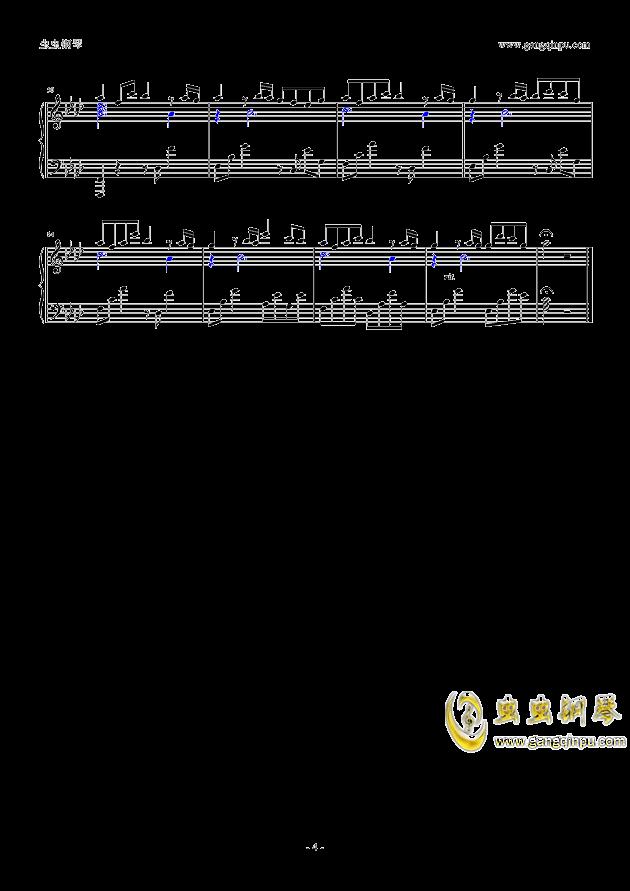 next to you钢琴谱 第4页
