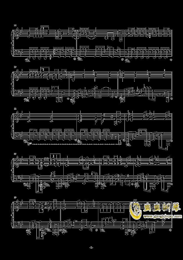 空想少女への恋手纸钢琴谱 第2页