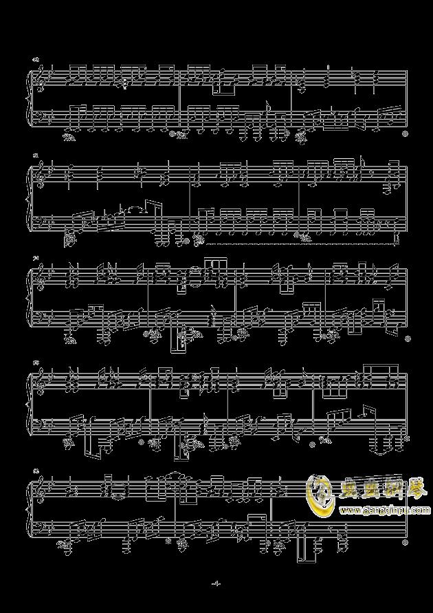 空想少女への恋手纸钢琴谱 第4页