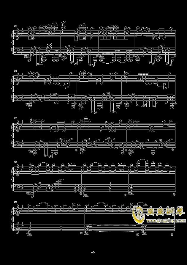 空想少女への恋手纸钢琴谱 第6页