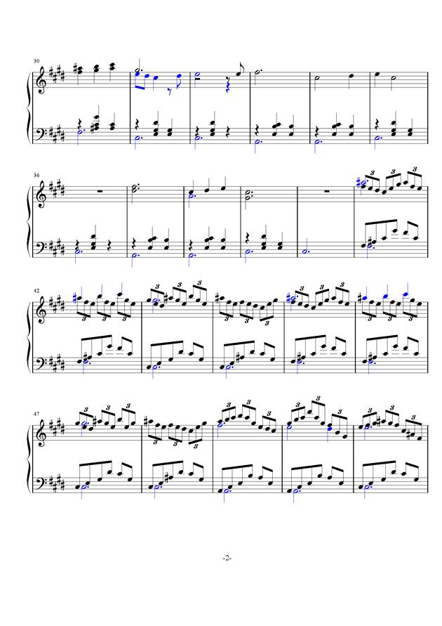 梦境钢琴谱 第2页