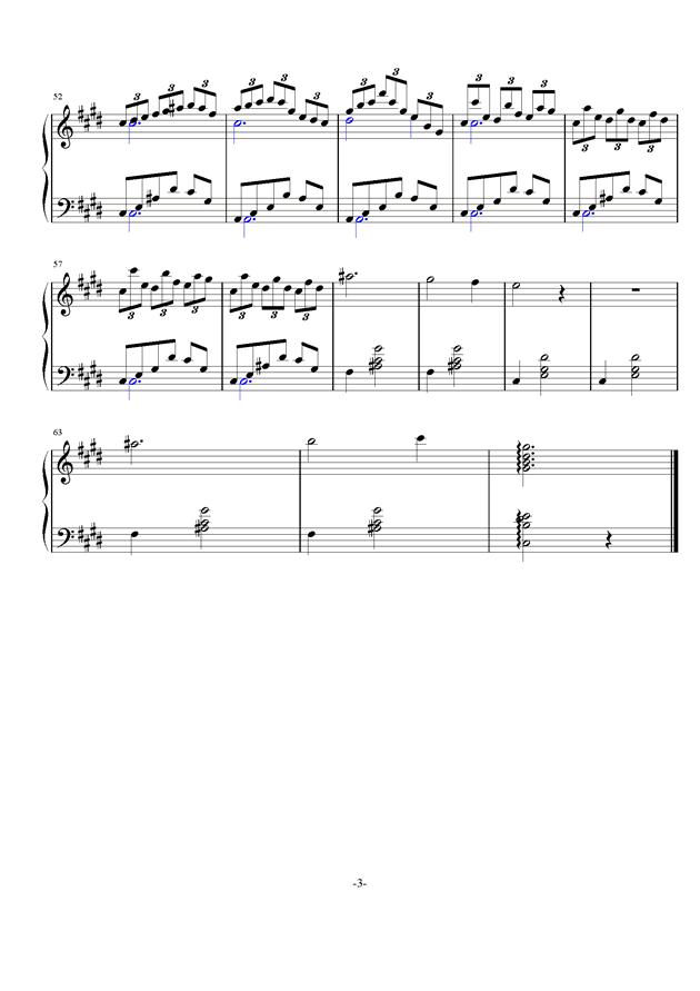 梦境钢琴谱 第3页