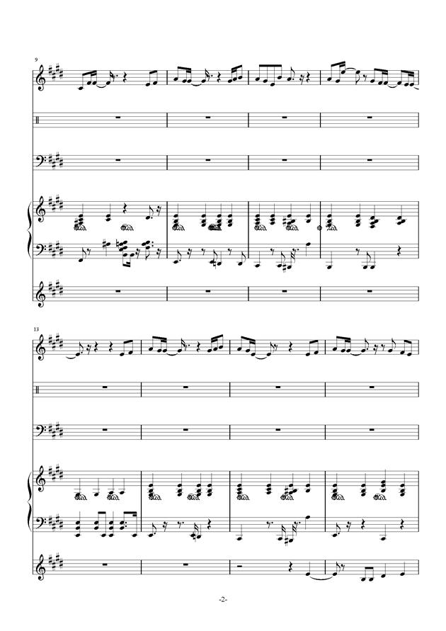 最长的电影钢琴谱 第2页
