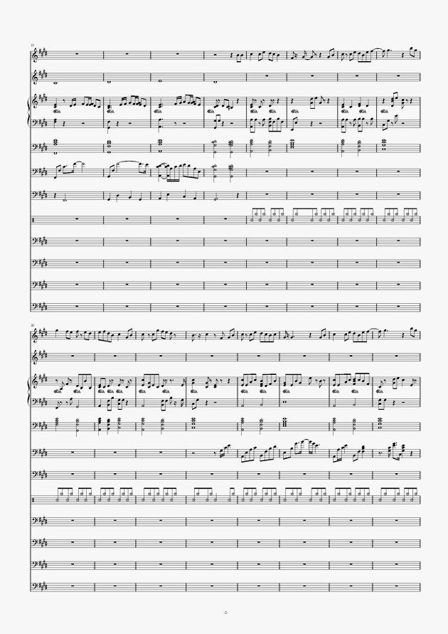 画心钢琴谱 第2页