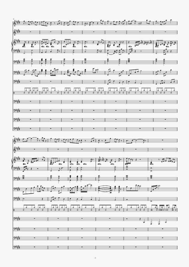 画心钢琴谱 第3页