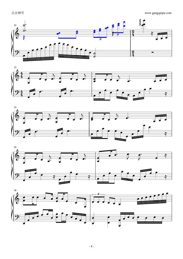 何以爱情钢琴谱 第4页