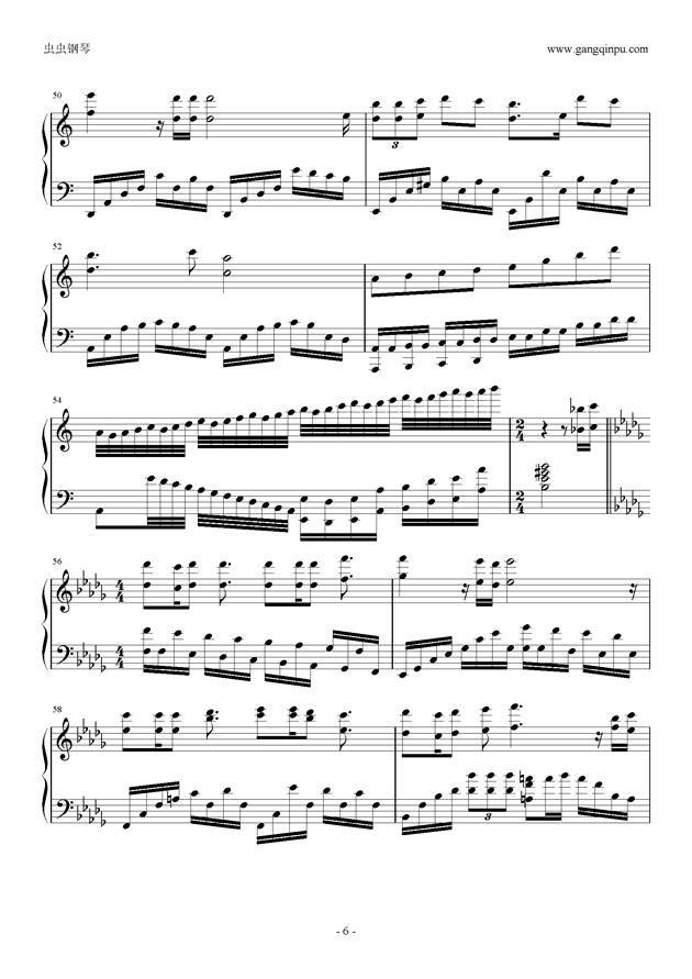 何以爱情钢琴谱 第6页