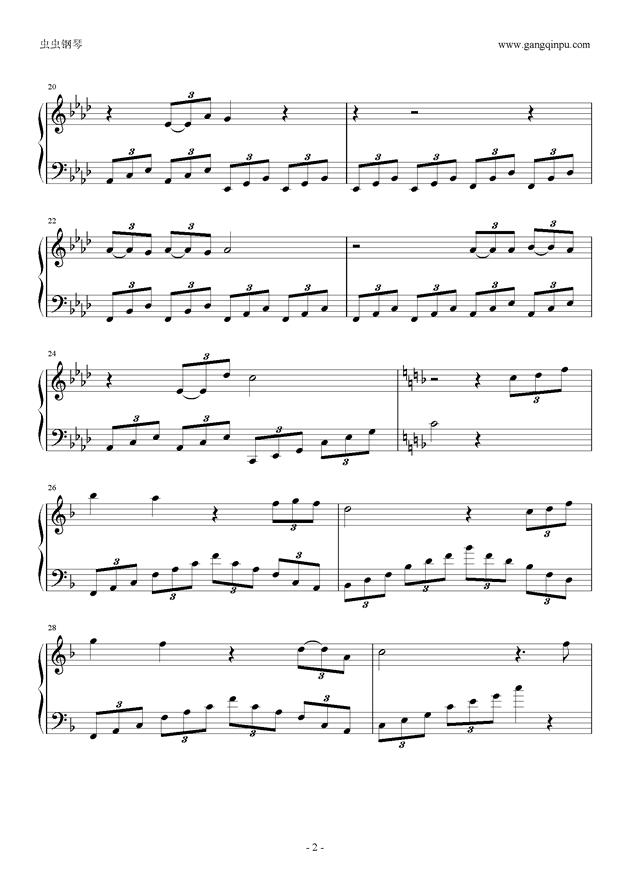 春钢琴谱 第2页