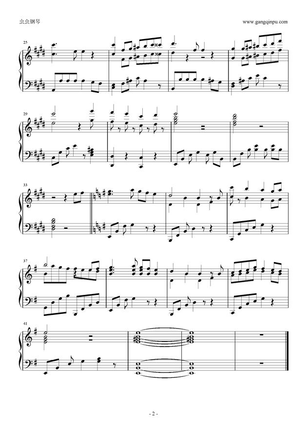 town windmill简谱-hometown 钢琴谱