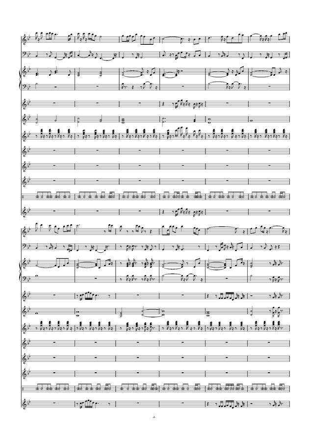 爱拼才会赢钢琴谱 第4页