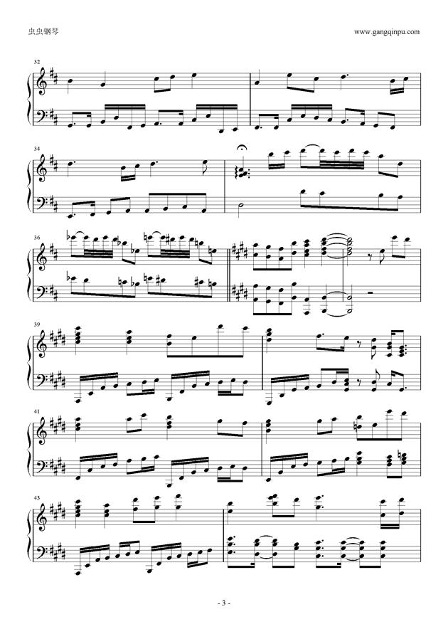 知足钢琴谱 第3页
