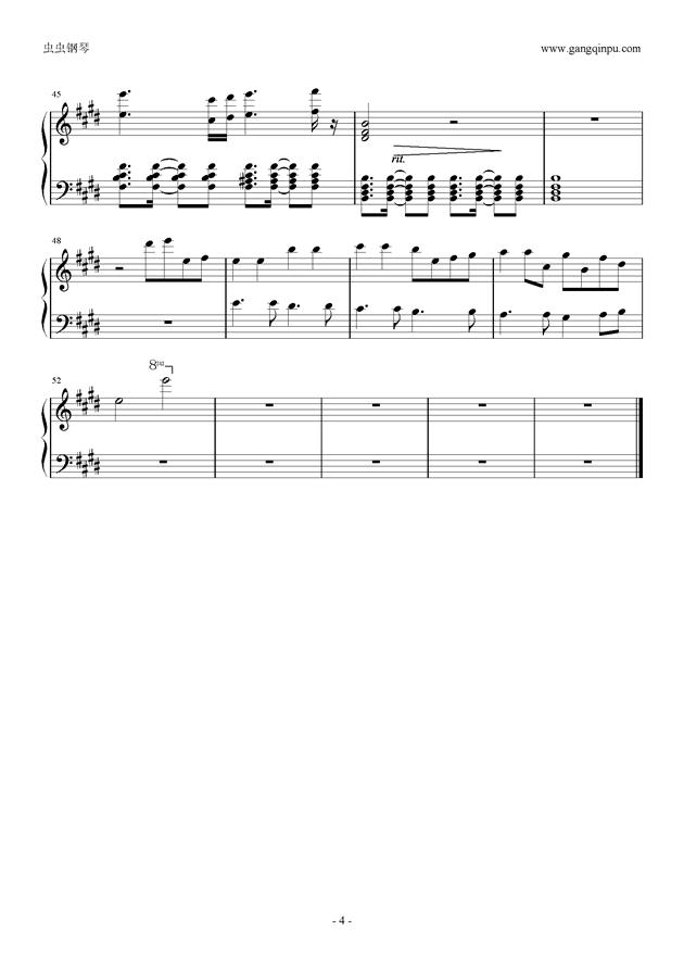 知足钢琴谱 第4页