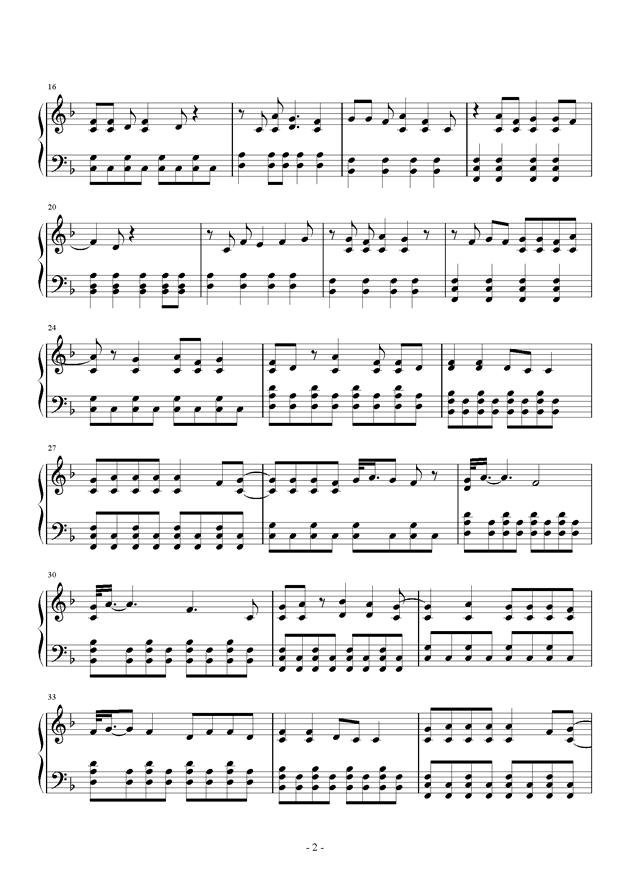 Sparks Fly钢琴谱 第2页