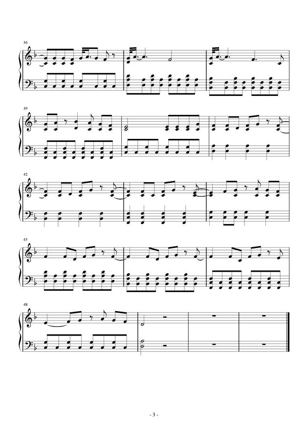 Sparks Fly钢琴谱 第3页