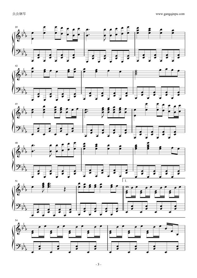 Reunion钢琴谱 第3页