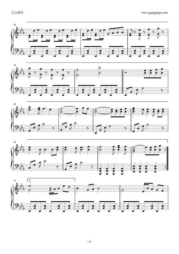 Reunion钢琴谱 第4页