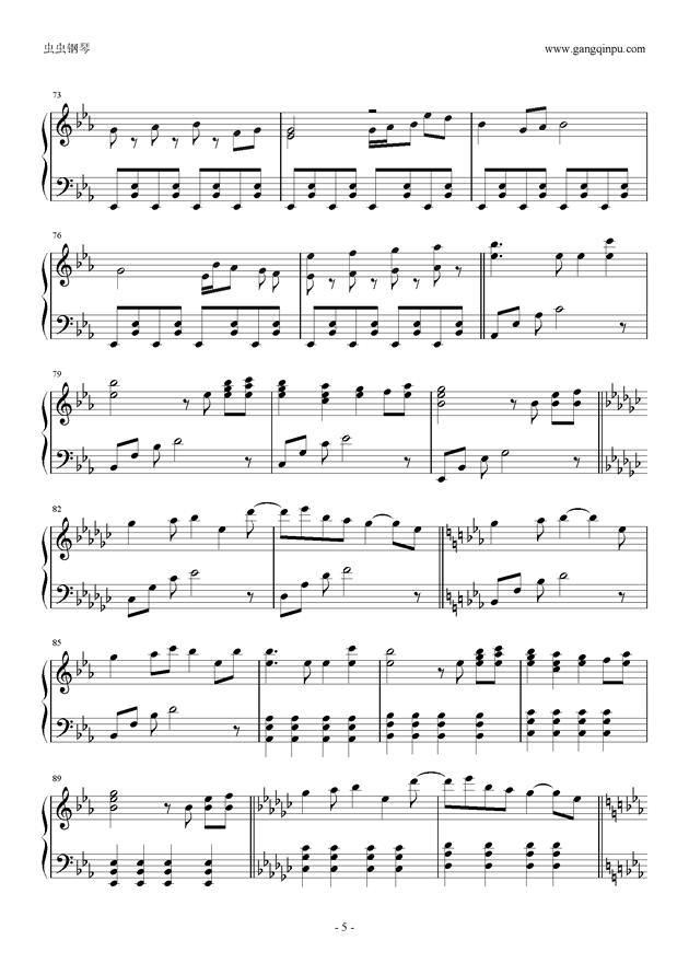Reunion钢琴谱 第5页