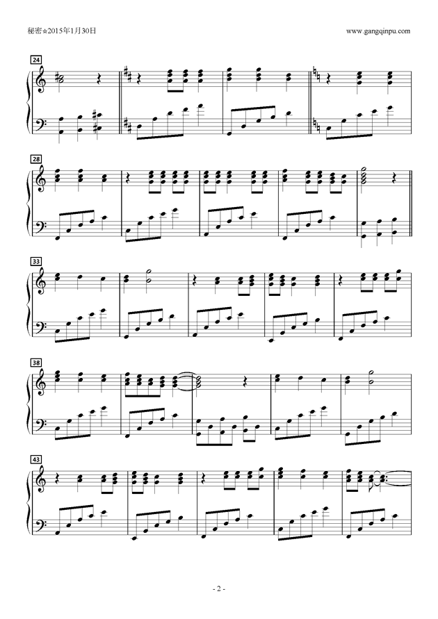 オレンジワルツ钢琴谱 第2页