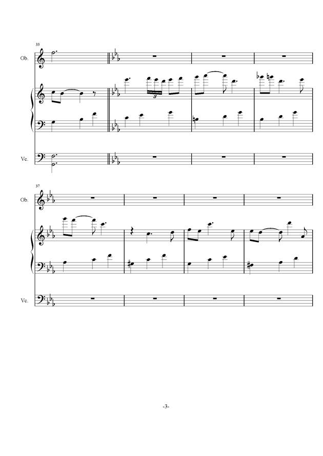 庸才日记 NO.2钢琴谱 第3页