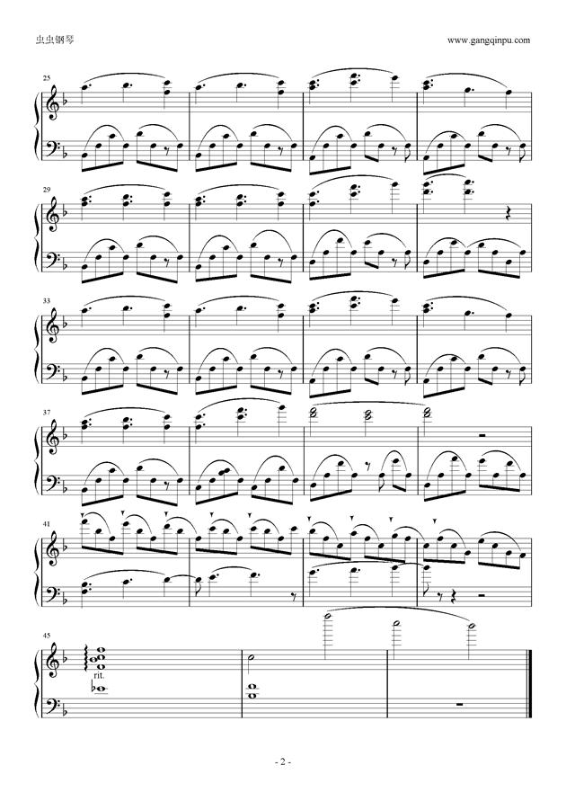 四月は君の嘘钢琴谱 第2页