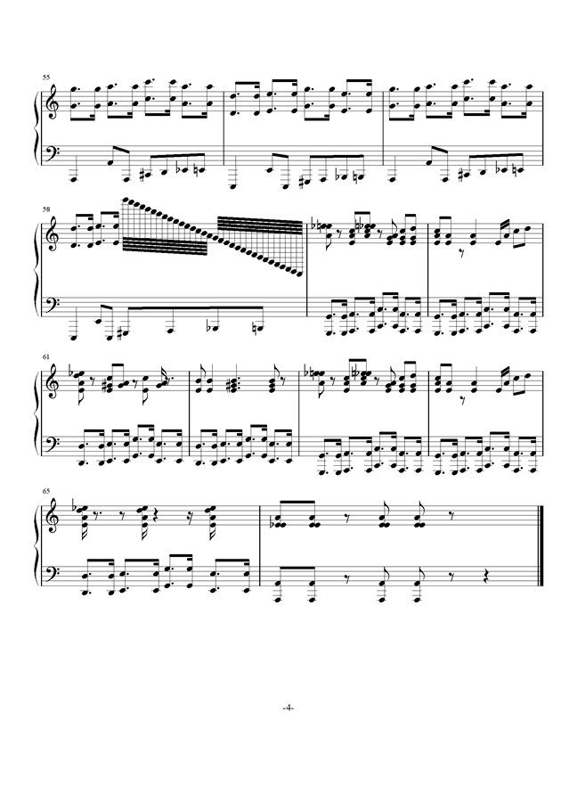 任性的二钢琴谱 第4页