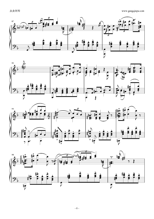 李斯特改编舒伯特小夜曲钢琴谱 第6页