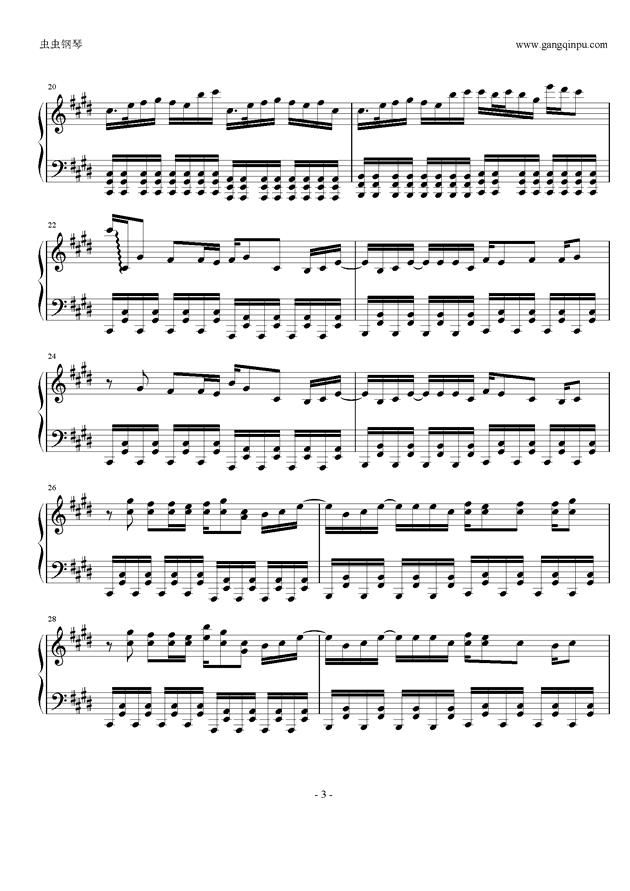 权御天下钢琴谱 第3页