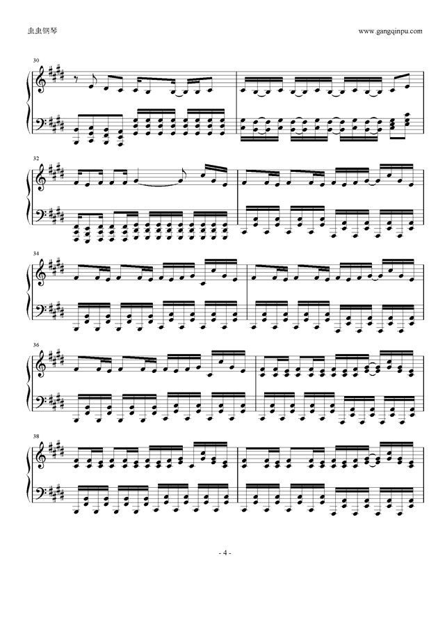 权御天下钢琴谱 第4页