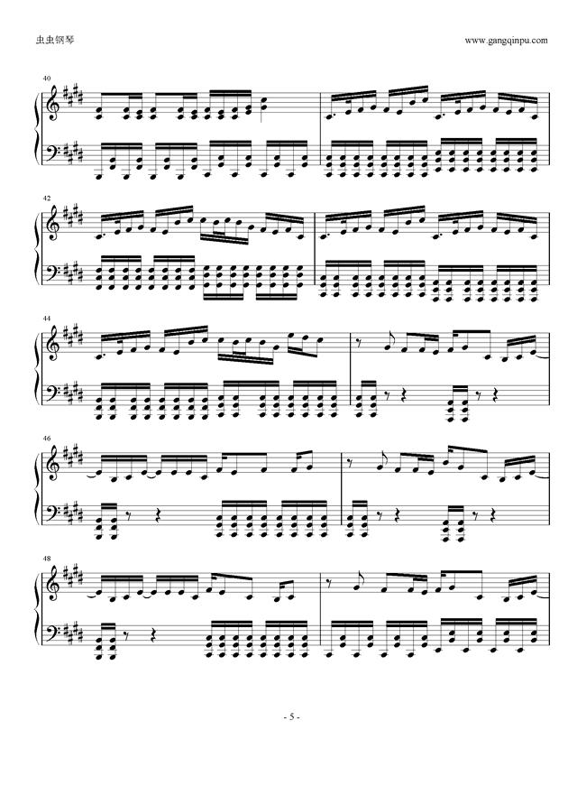 权御天下钢琴谱 第5页
