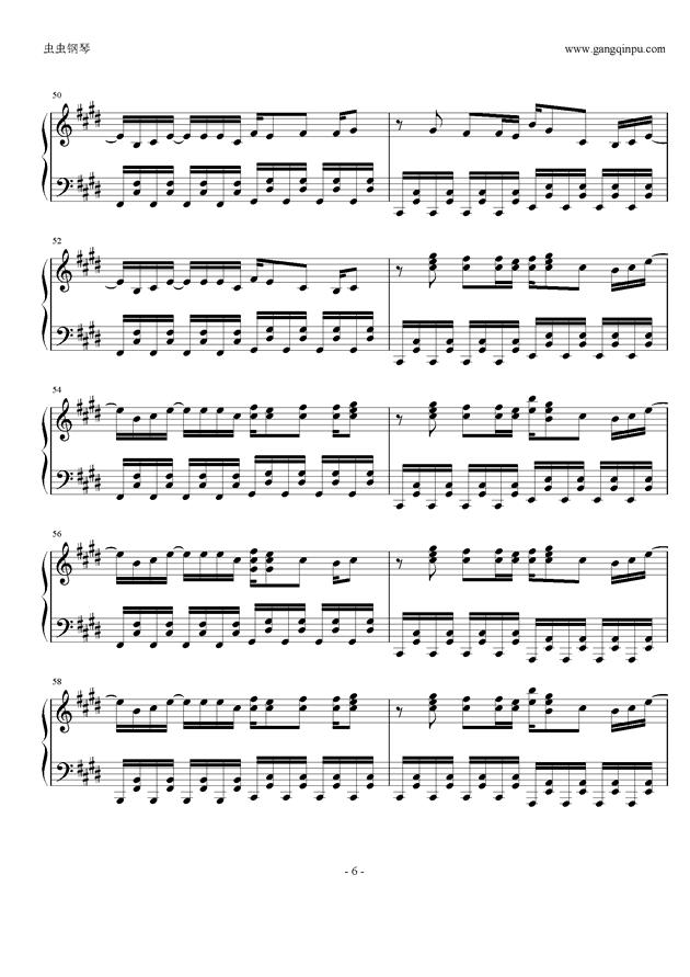权御天下钢琴谱 第6页