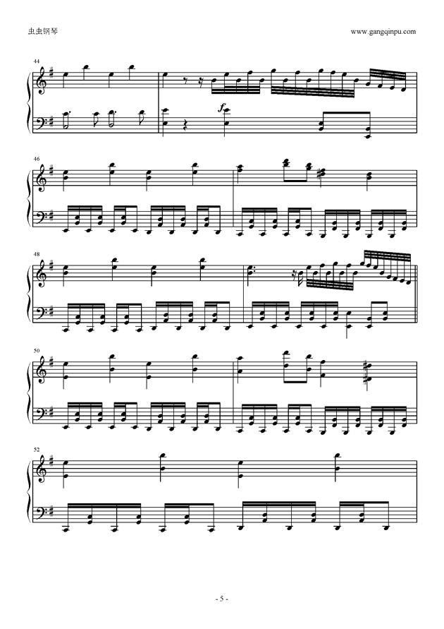 Missing Power钢琴谱 第5页