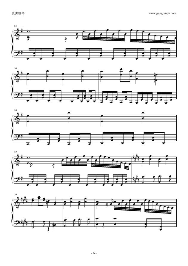 Missing Power钢琴谱 第6页