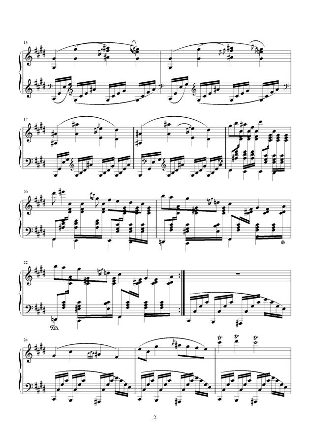 田园风光钢琴谱 第2页
