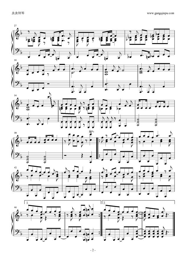 ふ・れ・ん・ど・し・た・い 钢琴谱 第2页