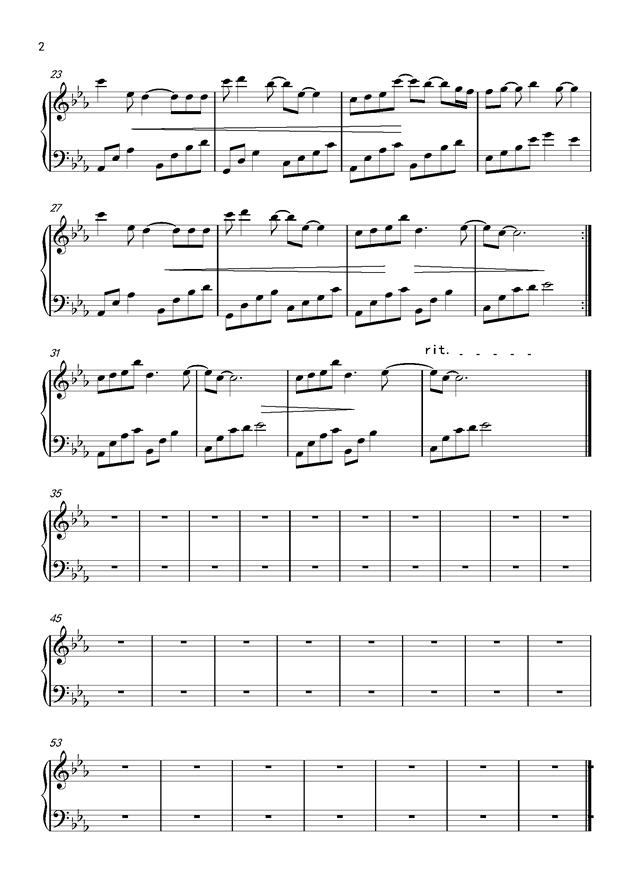 红颜旧钢琴谱 第2页