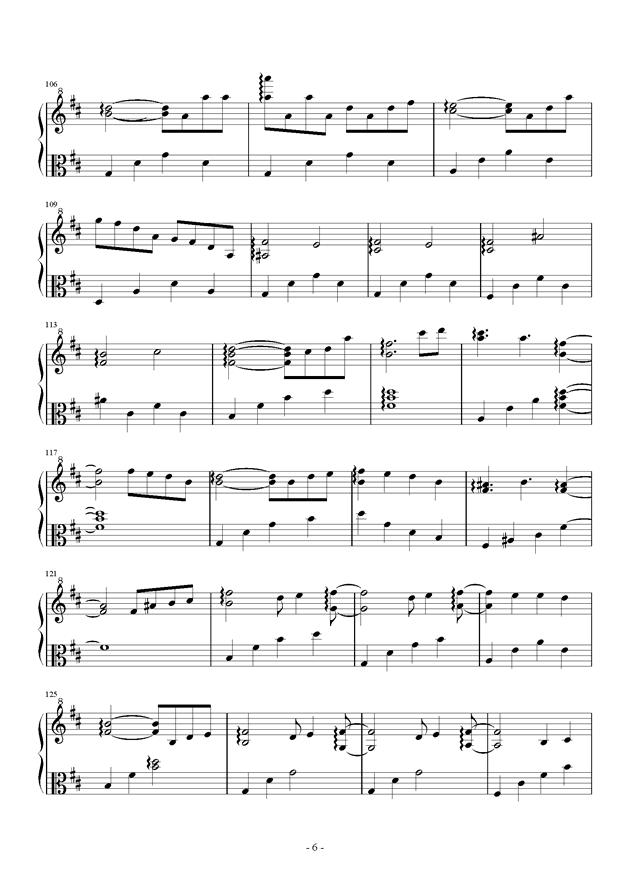 钢琴曲 小丑 曲谱