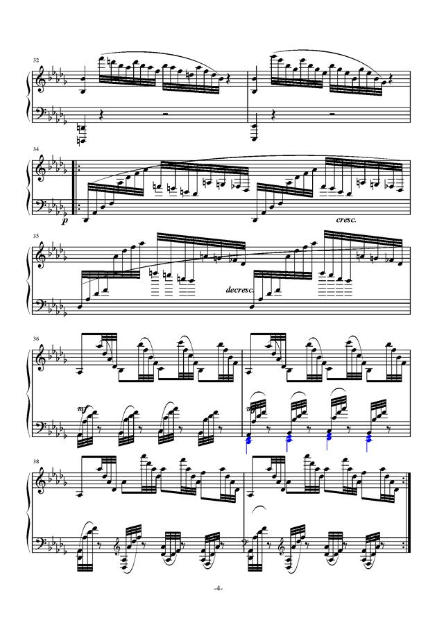 月光曲钢琴谱 第4页