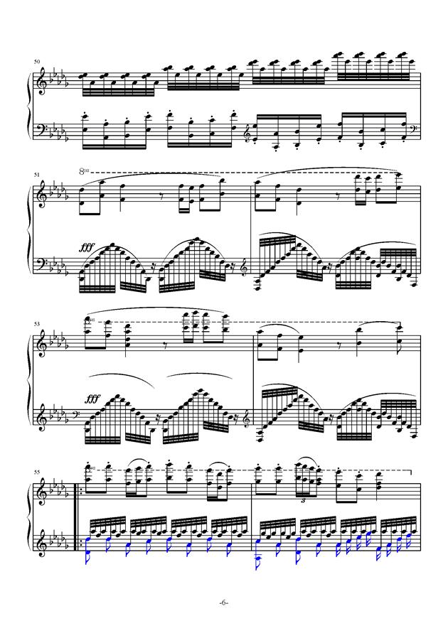 月光曲钢琴谱 第6页