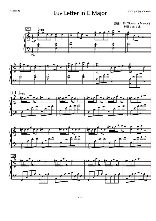 Luv Letter in C Major钢琴谱 第1页