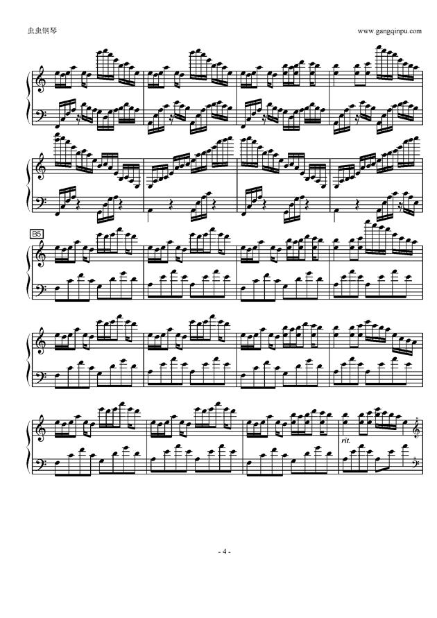 Luv Letter in C Major钢琴谱 第4页