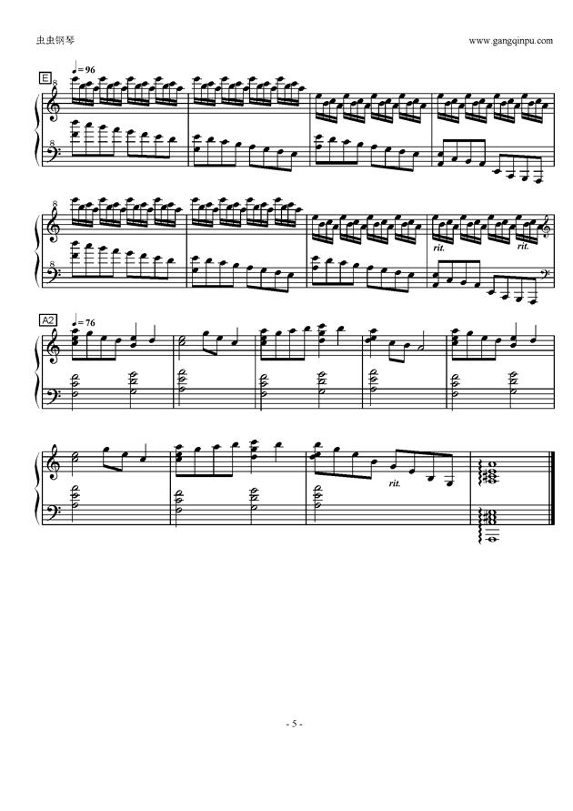 Luv Letter in C Major钢琴谱 第5页