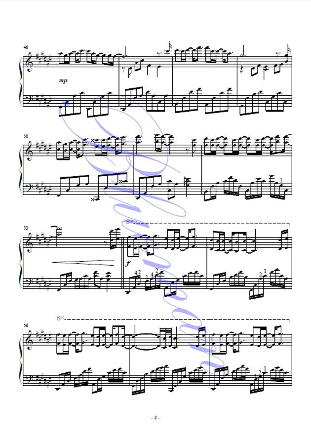 可惜不是你钢琴谱 第4页