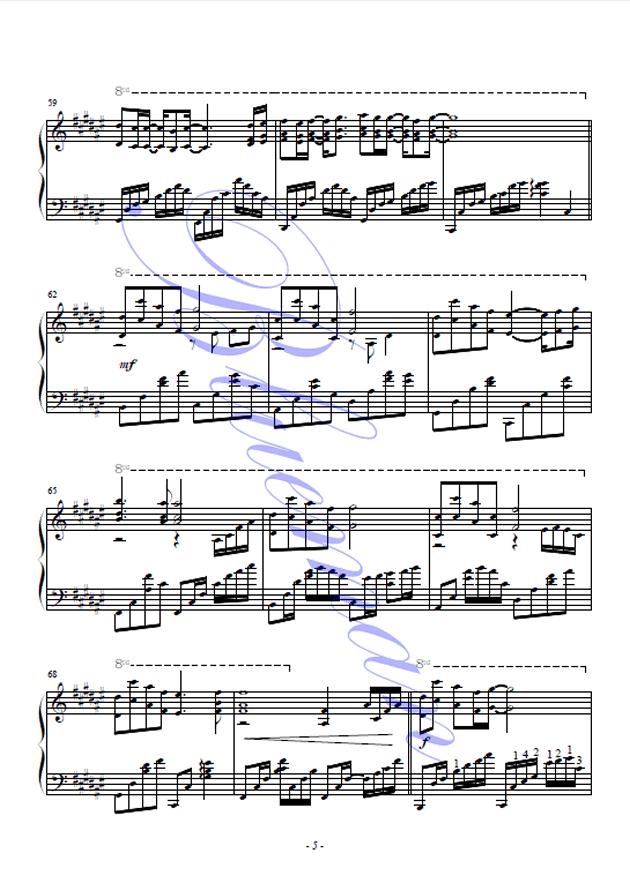 可惜不是你钢琴谱 第5页