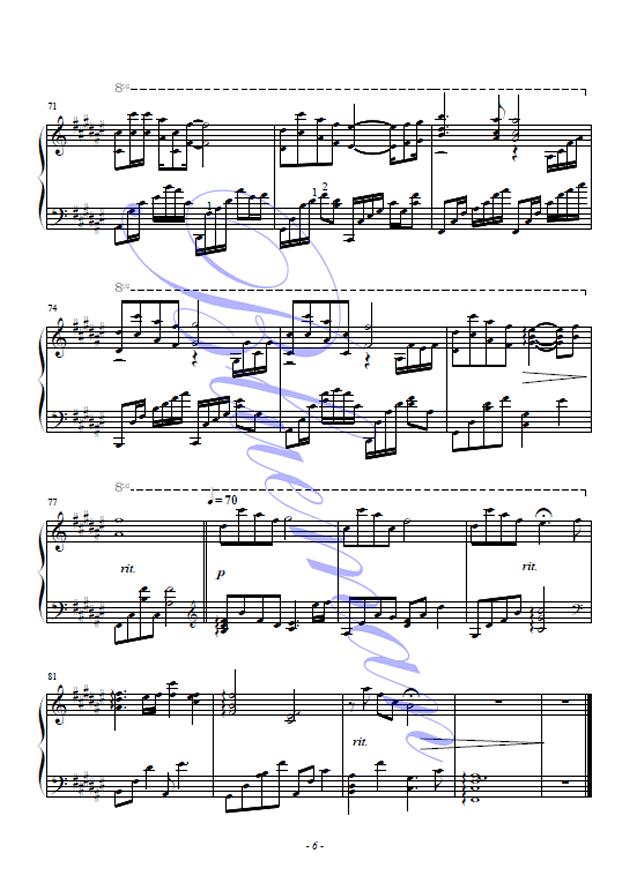 可惜不是你钢琴谱 第6页